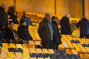 Mansfield fans at Port Vale during the Leasing.com Trophy Second Round.