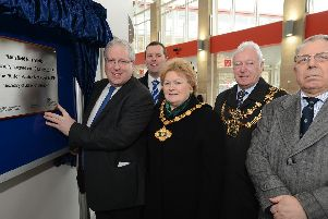 Mansfield Bus Station officially opens.  Station was officially opened by MP Patrick McLoughlin  in 2013, pictured with MP Mark Spencer, Chairman of Notts County Council Coun Carol Pepper, Mayor of Mansfield Coun Tony Egginton and MP Alan Meale.