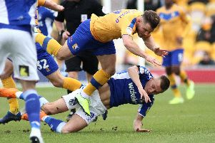 Alex MacDonald in Stags action