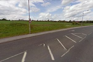 Land off Crown Farm Way, where the homes would be built.