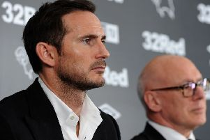 Frank Lampard unveiled as the new Derby County manager, at press conference on Thursday with Club chairman Mel Morris.