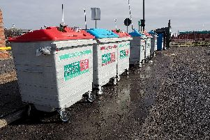 Recycling bins similar to the ones Sheffield Council hopes to introduce.