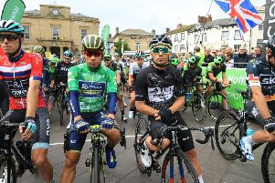 Last year's Tour of Britain stage in Mansfield.