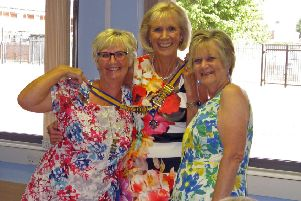 A great start to the new Inner Wheel year for joint presidents Lynda Moor and Jean Moulson