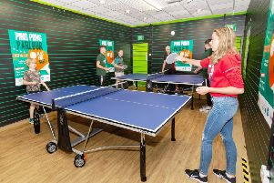 The 'Ping Pong Parlour' at Mansfield's Four Seasons shopping centre.