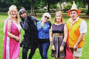 Inner Wheel  members all dressed up and ready to party
