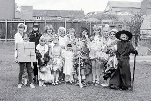 1981: Some fabulous costumes...a lovely nostalgic snap taken at the Blidworth Gala. Did you attend this event?
