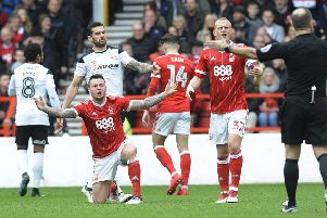 Derby and Forest will do battle again at Pride Park on Monday.