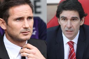 Frank Lampard and Aitor Karanka go head-to-head at Pride Park.