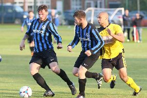 Action involving Selston, who returned to the top of the table with a 1-0 win at West Bridgford.
