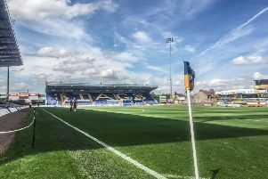 Mansfield Town One Call Stadium from corner flag