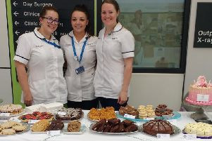 The radiology team raising almost 1,000 just from one cake sale.