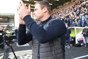 Picture by Howard Roe/AHPIX.com;Football;Skybet; 'Notts County v Mansfield Town'16/2/2019  KO 1.00pm; Meadow Lane;'copyright picture;Howard Roe;07973 739229''Stag's David Flitcroft before the kick off