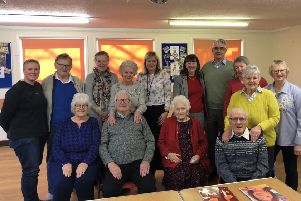 Trustees Charlene Burton-Betts and Coun Joyce Bosnjak with members of the new memory cafe at Mansfield Woodhouse.