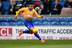 Mansfield Town's Nicky Ajose: Picture by Steve Flynn/AHPIX.com, Football: Skybet League Two  match Mansfield Town -V- Tranmere Rovers at One Call Stadium, Mansfield, Nottinghamshire, England on copyright picture Howard Roe 07973 739229