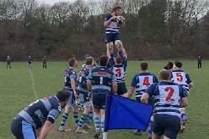 Action from Mansfield's disappointing defeat at home to Bakewell Mannerians.