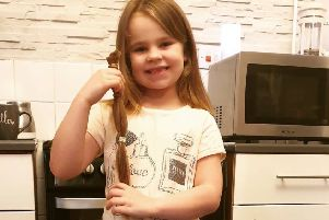 Brave Mansfield girl cuts her hair in aid of Little Princess Trust