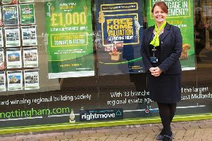 Julie Walker, assistant branch manager of The Nottinghams branch on Stockwell Gate in Mansfield.