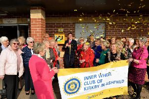 Members of the Inner Wheel Club of Kirkby celebrate with Jason Zadrozny