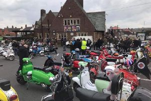 Hundreds of scooters took to the streets to deliver Easter eggs, gifts and money from fundraising to the childrens ward and neonatal unit at Sherwood Forest Hospitals.