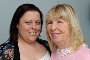 Claire, left, and Sharon Meakin who are hosting a 21st birthday party in memory of Claire's son Liam.