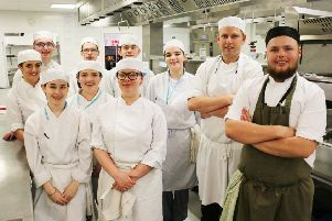 Chef Nathanial Weaver returned to West Nottinghamshire College to help advise the current crop of student chefs.