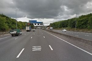 A stretch of the M1 at J27 was closed.