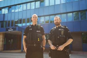 PCs James Gill and Richard Elliott.