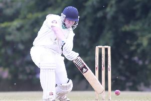 Callum McKenzie, whose fine knock was not enough to save Farnsfield from their first defeat of the season. (PHOTO BY: Richard Parkes)