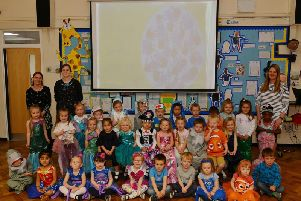 Nursery children at Lake View Primary and Nursery School performed a Matakon signed song as part of their topic on the damaging effects of plastic in the sea