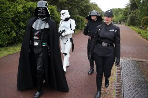 Darth Vader was at the event