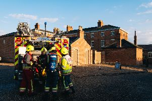 The exercise was designed to allow crews to practice their BA  drills as well as salvaging of high-value assets from the basement of a historical building.