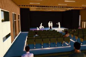An artist's impression of the refurbishes sports hall, by architect and designers Maber