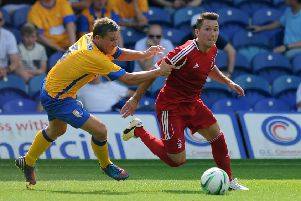 Jamie McGuire in Stags action against Forest.