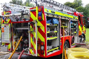 Stock image of fire engine.