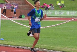 Johar Ali, who recorded a personal-best time for Mansfield Harriers at the Charnwood Open Meeting.