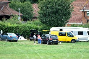 Travellers on Sutton Lawn last year.