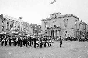 1969 Mansfield Sherwood Foresters Beat the Retreat.
