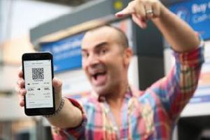 Louie Spence promotes paperless ticketing on East Midlands Trains.