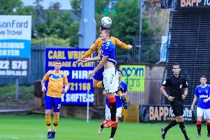 Match action from Mansfield Town's 4-2 win.