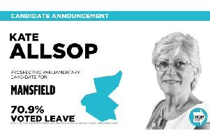 Kate Allsop will represent the Brexit Party.