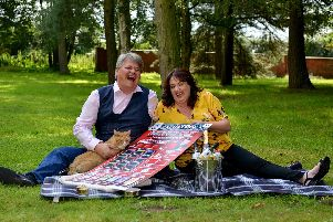 Andrew and Paula Hancock scooped 1,000,000 on a National Lottery scratchcard.