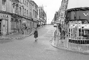 Mansfield then and now. Mansfield Leeming Street 1975.
