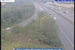 Junction 24 of the M1 southbound.