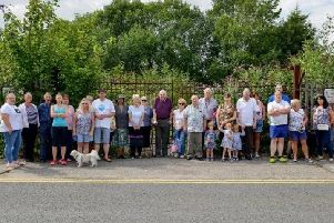 Residents objecting to proposed travellers site off Baums Lane Mansfield.