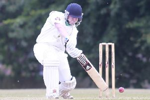 Callum McKenzie, who stroked a century for relegated Farnsfield in their last Notts Premier League match. (PHOTO BY: Richard Parkes)