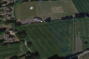 Mawdesley Juniors FC currently train and play at Mawdesley Cricket Club, pictured top. They are looking to turn an adjacent field, pictured, bottom, into new pitches to cope with demand (Image: Google Maps)
