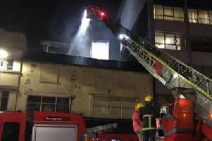 Firefighters at The Cube