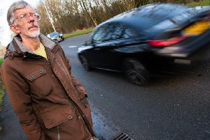Leslie Bleasdale has to cross busy Eastway three times to reach the shops