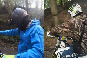 Police are trying to trace two off-road riders